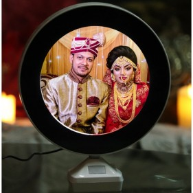 Round Shape Magic Mirror With Photo