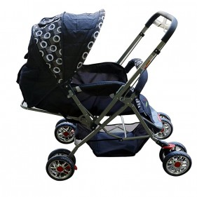 Nit N Kit 3114 Baby Carriage With Chrome Wheels