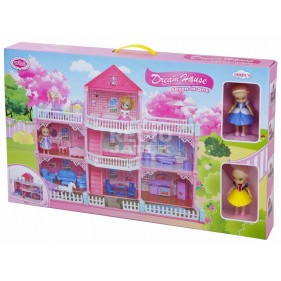 7 in1 Doll Dream House  91pc VC 6017