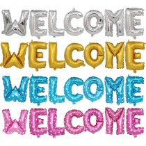 Welcome Foil Balloons Set Party Props