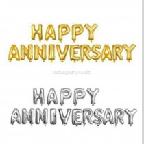 Happy Anniversary Foil Balloons Set 16 Inch