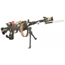 DF-9218B Special Force Iron Gun With Light , Action And Sound