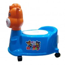 Baby Cute Bopty Cow 2 in 1 Potty Trainer Cum Rideon Toy With Music