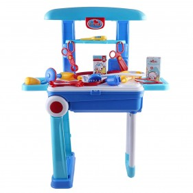 2 In 1 Little Doctor Trolly Play Set Toy 008-925 For Kids