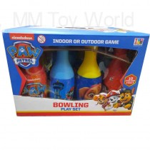 Paw Petrol Bowling Play Set For Kids Indoor Or Outdoor Game With 10 Pins And 2 Balls