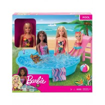Origanal Barbie Doll With Pool Play Set GHL91