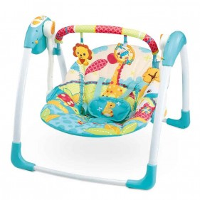 Mastela Deluxe Portable Swing For New Born 6579 With Music And Speed Control