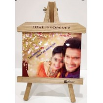 Wooden Photo Frame With Metal Print