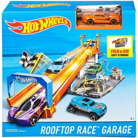 Hot Wheels Rooftop Race Garage Track DRB29