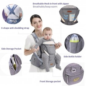 Deluxe Baby Carrier With Hip Seat