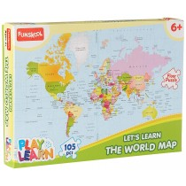 Let's Learn The World Map Funskool (Play & Learn)