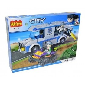 4151 Cogo City 261 Pc Blocks Police Chase Getaway Van