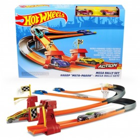 Mega Rally Set BGJ08 Hotwheels Track