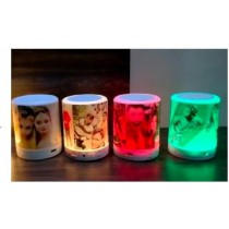 Rechargable Custom Photo Touch Lamp With Bluetooth Speaker